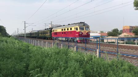 DF4D0372 牵引1820次通过平齐线北道口 2019.7.19