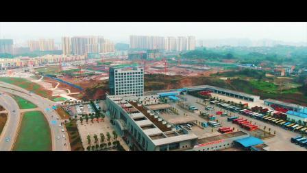航拍广安邻水客运中心