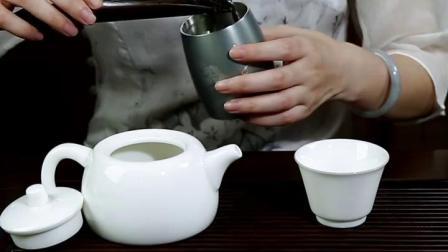 汉唐 景德镇陶瓷茶壶手工羊脂玉瓦当壶 单壶家用功夫茶具泡茶壶