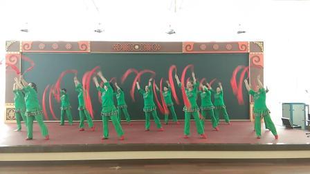 2019建军节《拥军秧歌》科尔沁右翼前旗科尔沁镇兴科社区快乐广场舞队