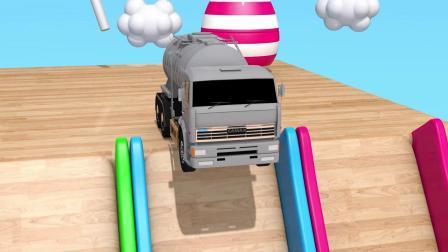 教育视频学习颜色与街道车辆足球池假装儿童玩