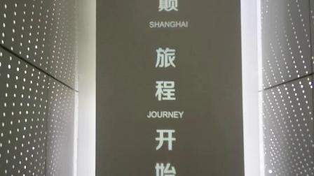 上海中心大厦上海之巅观景台自动扶梯b1-b2