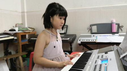 广东省音乐考级之电子琴一级乐曲《欢乐颂》(古滢儿)20190722
