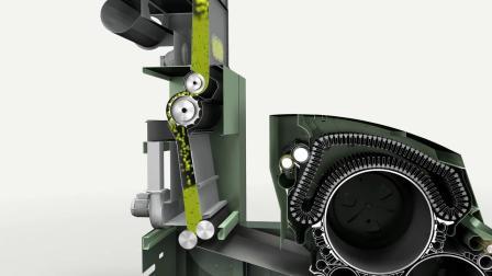 高性能梳棉机C 75 - 原料流