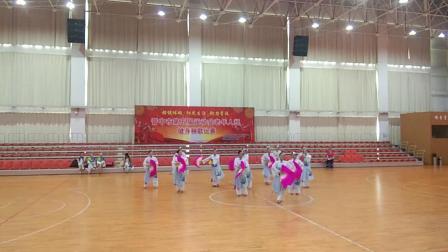 晋中市第五届运动会老年组健身秧歌比赛灵石县代表队规定套路《第七套健身秧歌》