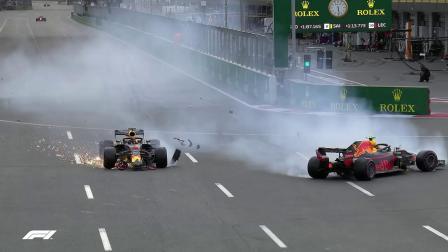 里卡多 对 塔炮 Angles Ricciardo Vs Verstappen Crash F1 2018 Azerbaijan