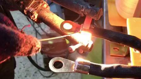 变压器加碳棒焊接铜鼻子