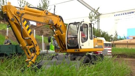 RC遥控沃尔沃奔驰斯堪尼亚卡车挖掘机拖拉机