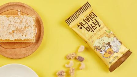 汤姆农场蜂蜜奶油混合坚果仁进口零食韩国核桃腰果扁桃仁盒装360G