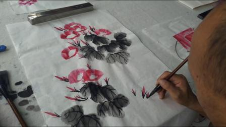 """""""牵牛花的画法""""陈兆惠国画教学示范"""