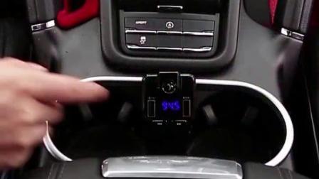 。数据fm发射带双usb转换器车载MP3播放器直插p4蓝芽麵包转usb音
