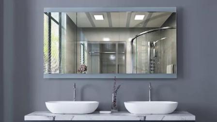 Braemar智能浴室镜定製化妆室化妆镜触控屏幕LED灯时钟防雾蓝牙镜子