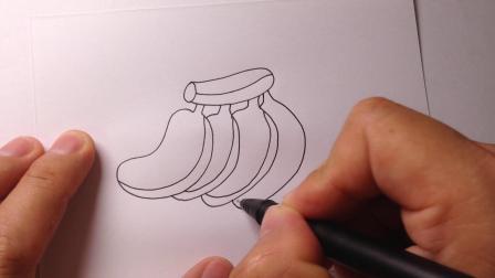 简笔画教程.香蕉的画法