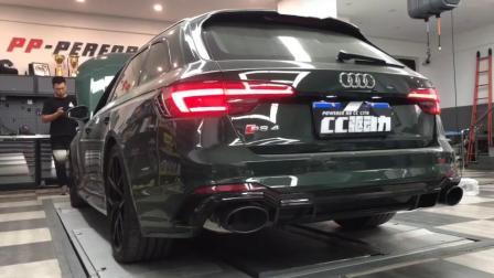 Audi RS4 改装Milltek牛奶中尾段阀门排气管