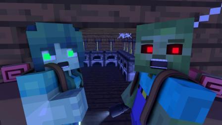 我的世界动画-丧尸3人组-ZomBo