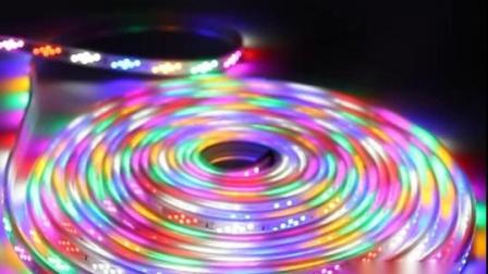 彩灯跑马灯带led七彩变色线条霓虹灯超亮户外防水软广告灯箱灯条