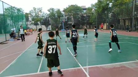 2019年7月25日下午家孙(30号)在秦皇岛北戴河蔚蓝海岸别墅小区球场和吉林省來秦的小朋友的篮球比赛(04)
