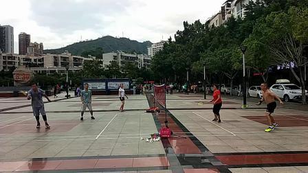 仁和广场----(高速摄影)打羽毛球