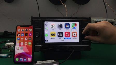 大众主机原厂有线升级无线carplay演示