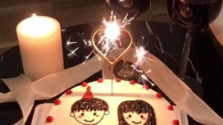 生日蛋糕蜡烛创意生日快乐数字装饰品抖音浪漫爱心形网红蛋糕蜡烛