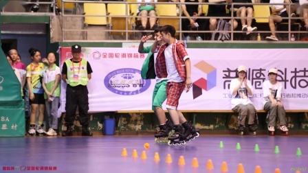 2019.7.27 丽水全国轮滑锦标赛 双人花桩 1st 顾琨琦 曾晨雨