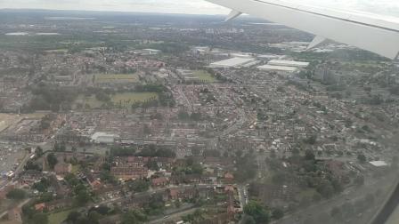 维珍航空VS251上海浦东到伦敦希思罗俯瞰伦敦