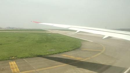 维珍航空VS251上海浦东到伦敦希思罗浦东机场准备起飞
