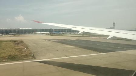 维珍航空VS251上海浦东到伦敦希思罗浦东机场起飞