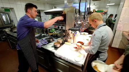 Busy kitchen service in TOP Hotel Hochgurgl, Austria