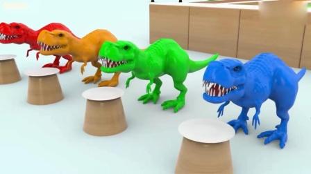 恐龙玩具来染色 侏罗纪世界恐龙蛋 恐龙玩具 恐龙世界动画片