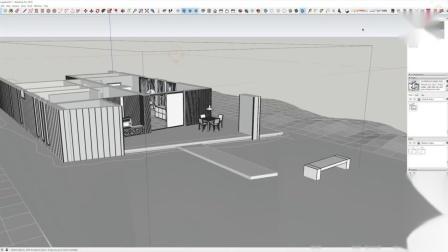 SketchUp快速构建-Lumion 9.5现代平房房屋照明设置渲染教程