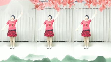 莲芳姐广场舞《爱上一朵花》编舞  雪妹原创优美舞蹈