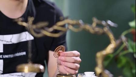 礼之源新中式黄铜音乐香炉树下禅意环香薰炉蓝牙音响古典音乐唱片机