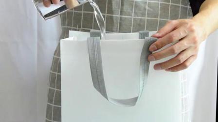 喇叭花不织布外送打包袋餐饮粥快餐包装手提袋子印刷logo防水定製