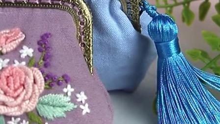 口金包刺绣diy零钱包手工製作材料包布艺苏绣成人丝带戳戳绣自绣