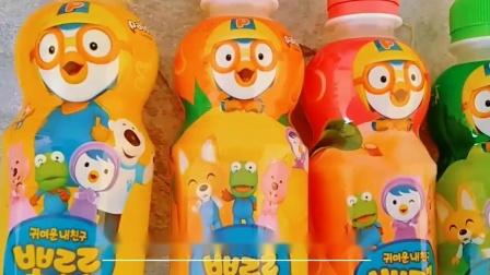 Pororo韩国进口啵乐乐宝露露儿童果味饮料8瓶小企鹅卡通图案礼盒