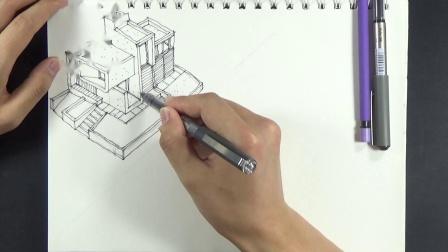 20190731_167343马克笔彩铅-建筑快题设计书籍临摹学习记录进步历史原速视频01