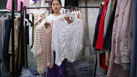 2019年最新精品女装批发服装批发时尚服饰时尚女士新款夏装小衫上衣大版T20件起批,视频款可挑款零售混批.mp4
