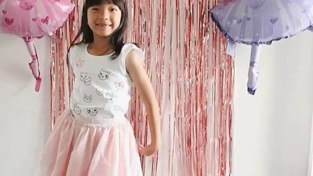 芭蕾舞女孩主题儿童生日派对铝箔气球雨丝气球链甜品桌布置装饰