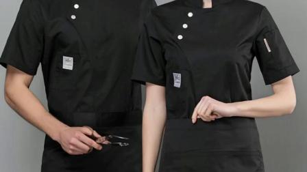 厨师服男女短袖饭厅烘焙蛋糕店西点工作服夏装麵包师甜品服装