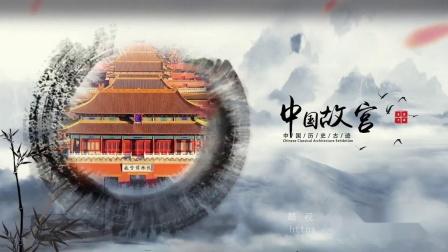 1395 中国风水墨中国传统建筑名胜古迹旅游宣传片视频AE模板 ae片头 pr 视频制作 宣传片