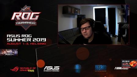 星际争霸2 8月2日ROG2019夏季赛第2天(3)Time(T) vs Ragnarok(Z) 2019