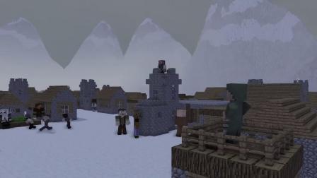 我的世界动画-奥特曼迪迦 vs -巨型骷髅-Minecraft Legends
