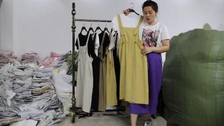 2019年最新精品女装批发服装批发时尚服饰时尚女士新款夏装两件套20套起批,视频款可挑款零售混批~1.mp4