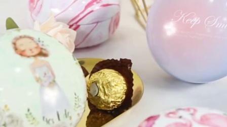 糖果喜糖礼盒装婚礼喜糖盒子铁盒包装盒空糖盒网红结婚创意个性小