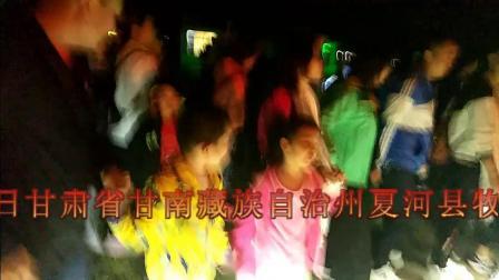 2019年7月27日甘肃省甘南藏族自治州夏河县牧区篝火晚会