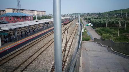 K1301次(北京—满洲里)进入牙克石站二站台