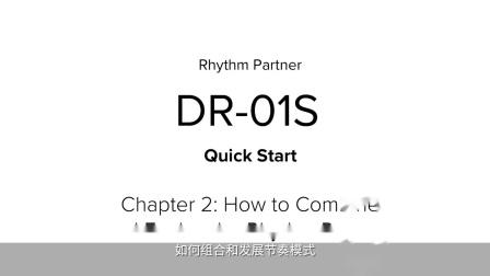 [中字]BOSS DR-01S 节奏伴侣 快速入门 第二章: 如何组合和发展节奏模式