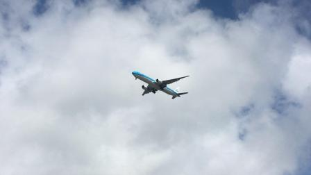 浦东机场 荷兰皇家航空KL895 阿姆斯特丹-上海 B77W