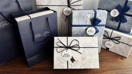 礼品盒ins风大号精美生日伴手礼盒包装盒空盒大理石纹礼物盒子